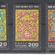 Sellos: VATICANO - AÑO 1978 - YVERT 659 / 661 - EDIFIL 727 / 729 - SEDE VACANTE. Lote 47871020