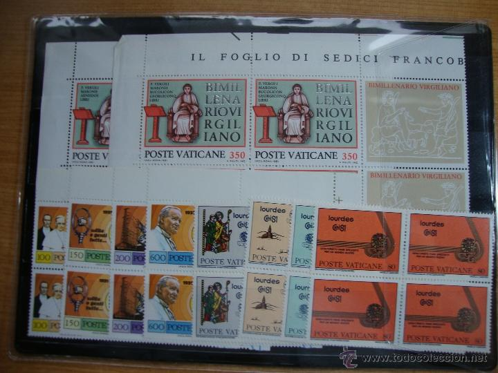 VATICANO AÑO 1981 BLOQUE DE 4 NUEVOS SIN CHARNELAS IVERT 702/725 (Sellos - Extranjero - Europa - Vaticano)