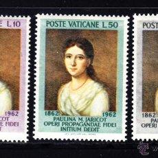 Sellos: VATICANO 356/58** - AÑO 1962 - CENTENARIO DE LA MUERTE DE PAULINE MARIE JARICOT. Lote 49331944