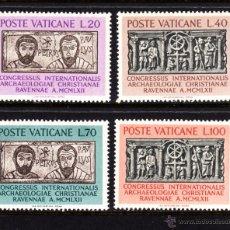 Sellos: VATICANO 359/62** - AÑO 1962 - CONGRESO INTERNACIONAL DE ARQUEOLOGÍA CRISTIANA. Lote 103361434
