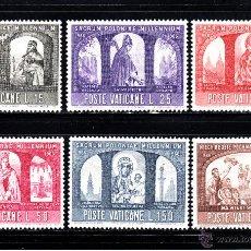 Sellos: VATICANO 451/56** - AÑO 1966 - MILENARIO DEL CRISTIANISMO EN POLONIA. Lote 109719408