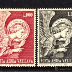 Sellos: VATICANO AEREO 53/54** - AÑO 1968 - PINTURA - LA ANUNCIACION - OBRA DE FRA ANGELICO. Lote 195437997