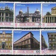 Sellos: VATIVANO 1993 SERIE COMPLETA PALACIOS Y CATEDRALES PRIMER DIA. Lote 49655730