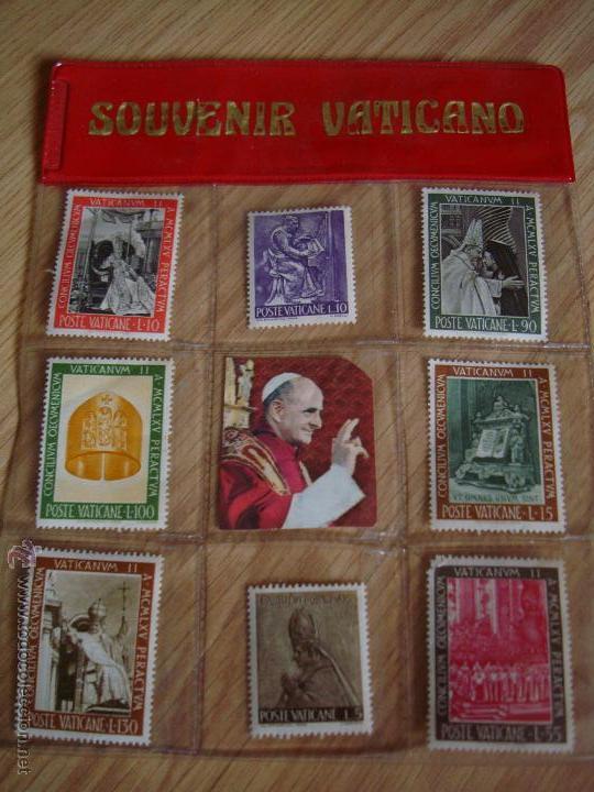 LOTE DE 8 SELLOS DE SOUVENIRES DEL VATICANO (Sellos - Extranjero - Europa - Vaticano)