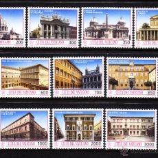 Sellos: VATICANO 942/51** - AÑO 1993 - TESOROS ARTISTICOS DEL VATICANO - BASILICAS Y PALACIOS. Lote 103362332