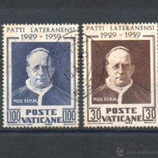 Sellos: VATICANO=YVERT Nº 272/73=ACUERDOS DE LATRAN-PIO XI=REF:1595. Lote 54445975