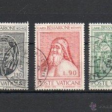 Sellos: VATICANO=YVERT Nº 549/51=CARDENAL BESSARIONE=REF:1811. Lote 54446072