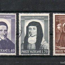 Sellos: VATICANO=YVERT Nº 313/18=SAN VICENTE DE PAUL Y SANTA LUISA DE MARILLAC=AÑO 1960=FI:325. Lote 55352629