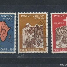 Sellos: VATICANO=YVERT Nº 491/93=VIAJE DE PABLO VI A UGANDSA=AÑO 1969=FI:325. Lote 55352735