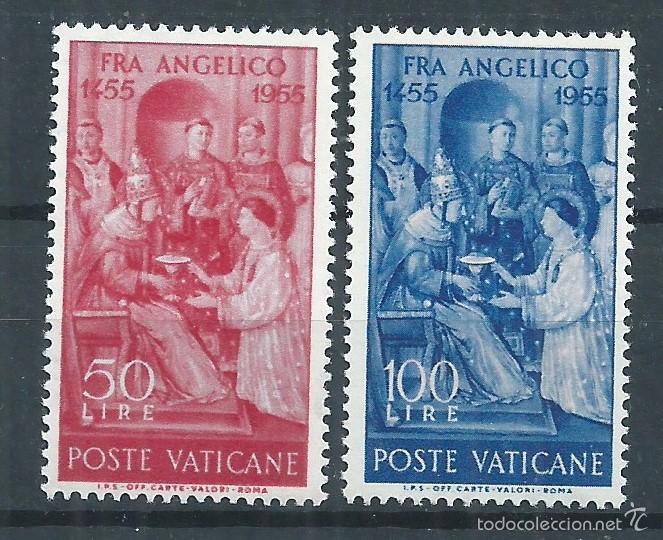 R9/ VATICANO ** 1955, CAT. 233/34, V CENT. MUERTE FRAY ANGÉLICO (Sellos - Extranjero - Europa - Vaticano)
