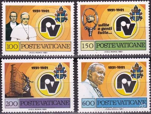 VATICANO/1981 (YVERT 702/05) (Sellos - Extranjero - Europa - Vaticano)