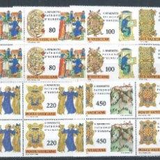 Sellos: R9/ VATICANO EN NUEVO 1980, CAT. 757/61, IV Cº NACIMIENTO SAN BENITO, PATRON DE EUROPA. Lote 57104092