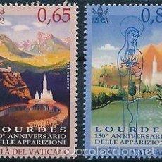 Sellos: VATICANO 2008 IVERT 1464/5 *** 150º ANIVERSARIO DE LAS APARICIONES DE LOURDES - RELIGIÓN. Lote 57532390