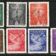 Sellos: VATICANO 1947 CORREO AEREO SERIE COMPLETA. Lote 57764455