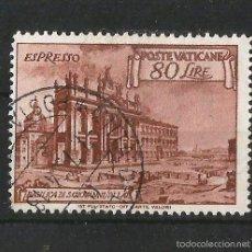 Sellos: VATICANO 1949 URGENTE. BASILICA DE SAN JUAN DE LETRAN.. Lote 57794375