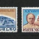 Sellos: VATICANO 1954 25 ANIVERSARIO DE LOS ACUERDOS DE LETRÁN NUEVOS. Lote 57911874