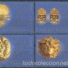 Sellos: VATICANO 2001 IVERT 1242/5 *** TESOROS DEL MUSEO ETRUSCO. Lote 58008269