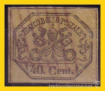 ESTADOS PONTIFICIOS 1867 IVERT Nº 17 (O) (Sellos - Extranjero - Europa - Vaticano)