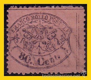 VATICANO 1868 ESTADOS PONTIFICIOS, IVERT Nº 25 (O) (Sellos - Extranjero - Europa - Vaticano)