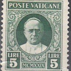 Sellos: IVERT 37, NUEVO CON FIJASELLOS. PAPA PIO XI. 1929.. Lote 58702628