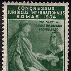 Sellos: IVERT 68, NUEVO CON FIJASELLOS. CONGRESO JURÍDICO INTERNACIONAL. 1935.. Lote 58703663