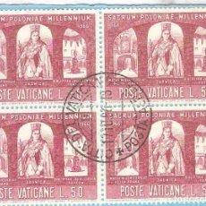 Sellos: VATICANO,1966,BLOQUE 4,YT 454. Lote 63264804