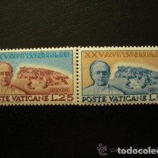 Sellos: VATICANO 1954 IVERT 192/3 *** 25º ANIVERSARIO DE LOS ACUERDOS DE LETRAN - PAPA PIO XI. Lote 70169217