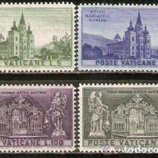Sellos: VATICANO 1957 IVERT 247/50 *** 8º CENTENARIO DE LA BASILICA AUSTRIACA DE MARIAZELL. Lote 138842938