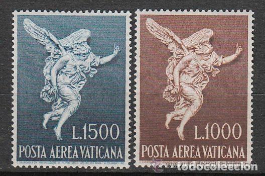 VATICANO 1962 AEREO IVERT 45/6 *** EL ARCANGEL SAN GABRIEL - RELIGIÓN (Sellos - Extranjero - Europa - Vaticano)