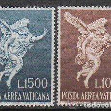 Sellos: VATICANO 1962 AEREO IVERT 45/6 *** EL ARCANGEL SAN GABRIEL - RELIGIÓN. Lote 178201273