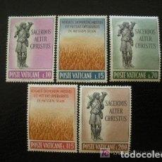 Sellos: VATICANO 1962 IVERT 348/52 *** VOCACIONES SACERDOTALES - EL BUEN PASTOR. Lote 71193909