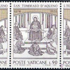 Sellos: VATICANO 1974 IVERT 576/8 *** 7º CENTENARIO DE LA MUERTE DE SANTO TOMAS DE AQUINO - RELIGIÓN. Lote 71535623