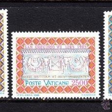 Sellos: VATICANO 1985 IVERT 776/8 *** 9º CENTENARIO DE LA MUERTE DE SAN GREGORIO VII. Lote 72797031