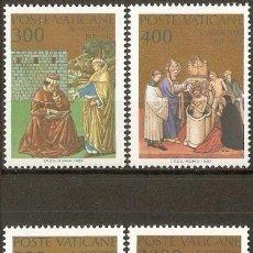 Sellos: VATICANO 1987 IVERT 802/5 *** 16º CENTENARIO DE LA CONVERSIÓN Y BAUTISMO DE SAN AGUSTIN - RELIGIÓN. Lote 72846543