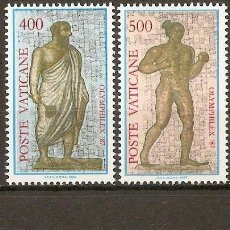 Sellos: VATICANO 1987 IVERT 811/4 *** EXPOSICIÓN FILATELICA INTERNACIONAL - TEMA OLIMPICO. Lote 72847427