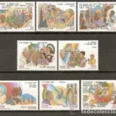 Sellos: VATICANO 1987 IVERT 817/24 *** VIAJES DE S.S. EL PAPA JUAN PABLO II POR EL MUNDO (III). Lote 72847943