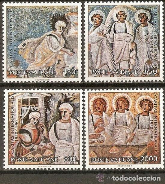 VATICANO 1990 IVERT 878/81 *** 40º ANIVERSARIO DE LA FUNDACIÓN DE CARITAS INTERNACIONAL - MOSAICOS (Sellos - Extranjero - Europa - Vaticano)