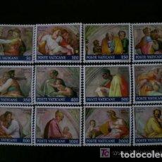Sellos: VATICANO 1991 IVERT 891/902 *** RESTAURACIÓN DE LA CAPILLA SIXTINA - OBRAS DE MIGUEL ANGEL. Lote 72865415