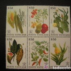 Sellos: VATICANO 1992 IVERT 930/5 *** FRUTAS TROPICALES - FLORA DEL NUEVO MUNDO. Lote 73151759