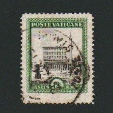 Sellos: VATICANO.1933.-12 1/2 CENT.YBERT 46.USADO.. Lote 76635247