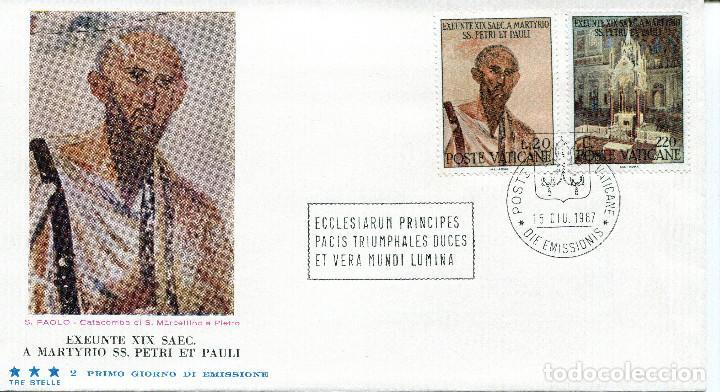 Sellos: VATICANO 1967 SOBRES PRIMER DIA FDC - Foto 5 - 77304621
