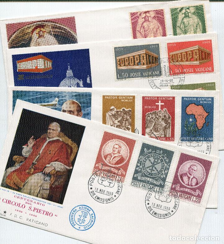 VATICANO 1969 SOBRES PRIMER DIA FDC (Sellos - Extranjero - Europa - Vaticano)