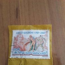 Sellos: VATICANO 2007 CARLO GOLDONI. Lote 82961820