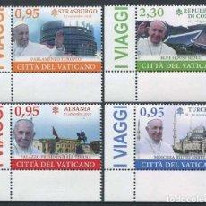 Sellos: VATICANO - VIAJES APOSTOLICOS DEL PAPA FRANCISCO EN 2014 (2015) **. Lote 85413592