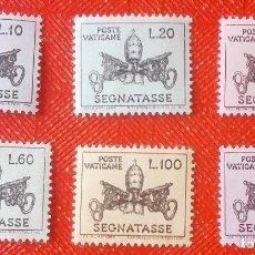 Sellos: LOTE DE 6 SELLOS DEL VATICANO - AÑO 1968 - POSTAGE DUE STAMPS MNH. Lote 96968139