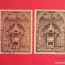 Sellos: VATICANO - RELIGIÓN - SINODO ROMANO - JUAN XXIII.. Lote 98959703