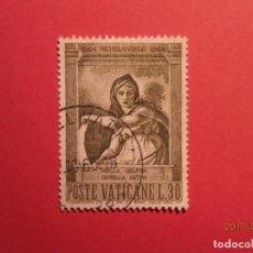Sellos: VATICANO - MICHELANGELO - MIGUEL ANGEL - CAPILLA SIXTINA - SIBILLA DELFICA. Lote 98968427