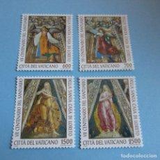 Sellos: VATICANO 1995 YVERT Nº 1000/03, 700º ANIV. DEL SANTUARIO DE LORETO + HB 21. Lote 100447139