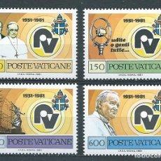 Sellos: VATICANO,1981,RADIO VATICANO,YVERT 702-705,NUEVOS,MNH**. Lote 150734802
