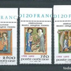 Sellos: VATICANO,1989,6º CENTENARIO DE LA FIESTA DE LA VISITACIÓN DE LA VIRGEN,YVERT 849-851,NUEVOS,MNH**. Lote 100490514